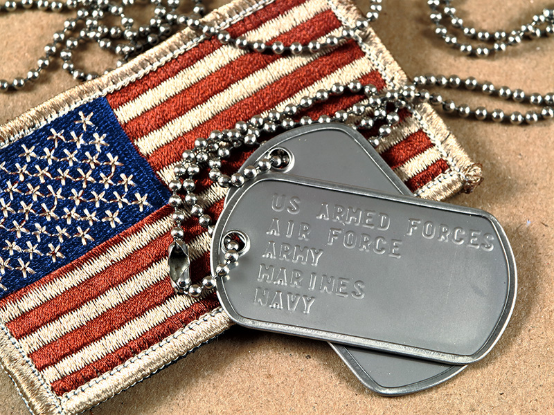 Flag Patch and Dog Tags